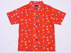 Dry Bones[ドライボーンズ] オープンシャツ SPUTNIK 半袖 Print Open Shirt DS-2169 (RED) 送料無料 代引き手数料無料 【RCP】