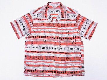 STAR OF HOLLYWOOD[スターオブハリウッド] オープンシャツ ATOMIC STRIPES SH37882 半袖 オープンカラーシャツ (ピンク) 送料無料 代引き手数料無料