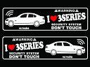 BMW 3シリーズ 4D E90セダン ラブセキュリティシール ス...