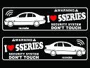 BMW 5シリーズ 4D E39セダン ラブセキュリティシール ス...