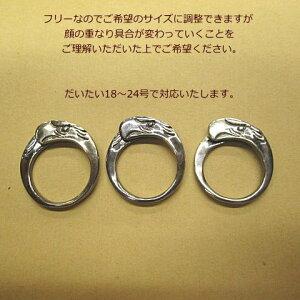 イーグル顔リング【Silver925】指輪【燻しありなし選べます】ネックレスパーツゴローズではございません