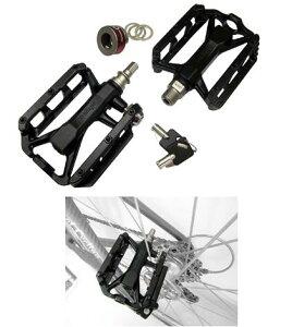 【取り寄せ商品】 wellgo QRD-C231 ロックペダル ( 鍵機能付きフラットペダル ) ウェルゴ QRDC231