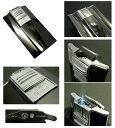 送料205円?日本製 斬新アーチ形状 超薄型9mm ARCバーナーガスライター(黒ニッケルミガキ)ターボライターを発明したWindmill社製