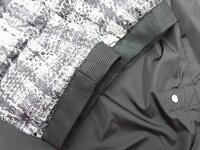 MONCLERモンクレール/ジャケットダブルジップアップダウン/フェザーグレーxブラック#0【大黒屋質店出品】【中古】