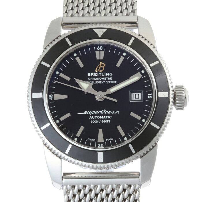 【飯能本店】 ブライトリング スーパーオーシャンヘリテージ42 メンズ 腕時計 A17321 ステンレススチール ブラック文字盤 DH53599【大黒屋質店出品】 【中古】【店頭受取対応商品】