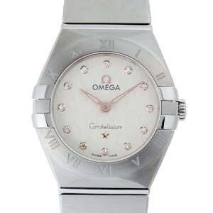 [Price Down] [Ginza Store] Omega Constellation Blush Manhattan 12P Diamond Ladies Watch 131.10.25.60.52.001 Stainless Steel Silver Dial DH55548 [Daikokuya Pawnshop Exhibit] [Used] [Free Shipping] [Receiving at stores]