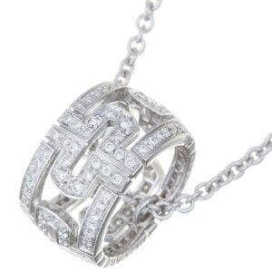 [7/2 9:59까지 최대 32,000 엔 OFF 쿠폰 배포] [긴자 점] 불가리 Parentesi 다이아몬드 레이디스 목걸이 750 화이트 골드 실버 DH57380 [다이 코쿠 야 전당포 출전] [중고] [무료]