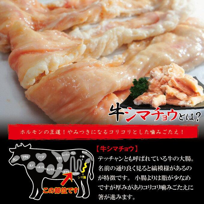 牛シマチョウ 338g 素材そのまま味付け無し冷凍 アメリカ産【焼肉】【牛もつ】【ホルモン】【シマ腸】【大腸】