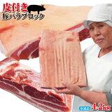 皮付き豚バラブロック4.2kg冷凍手にはいらない希少 3枚肉 角煮や東坡肉【サムギョプサル】【国産に負けない味わい】【ばら肉】【ベーコン】