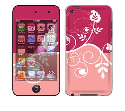 お取寄せ★iPod touch 第4世代★スキンシール 壁紙もおそろいに! YU20/Pink Flower [ アイポッドタッチ ipodtouch アイポッド タッチ] かわいい/カバー/ケース/人気/おしゃれ