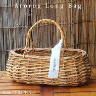 かごバッグバスケットアラログ・ロングバッグハンドバッグカントリー楕円形横長レディースファッション【あす楽対応】