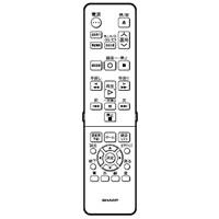 【メール便発送も可能】 SHARP純正パーツ BD/DVDレコーダー用リモコン 0046380241 AQUOSブルーレイ シャープ 【RCP】 05P27May16
