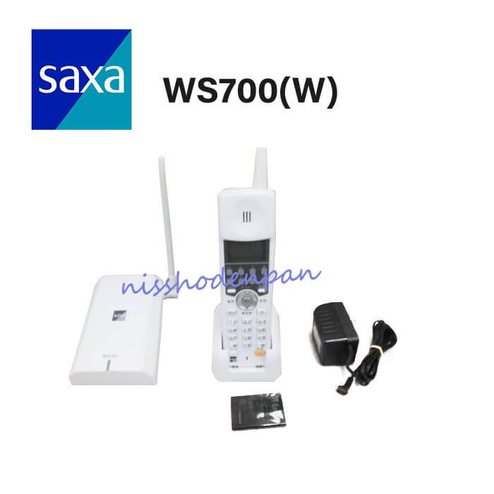 【中古】SAXA/サクサ PLATIA PT1000 WS700(W) コードレス電話機【ビジネスホン 業務用 電話機 本体 子機】