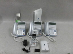 【中古】HX300 (2CO300 + CF300付)TD710(W)×3 + WS800(W)SAXA/サクサ ActysIII 主装置18ボタン電話機 コードレス電話機 セット【ビジネスホン 業務用 主装置】