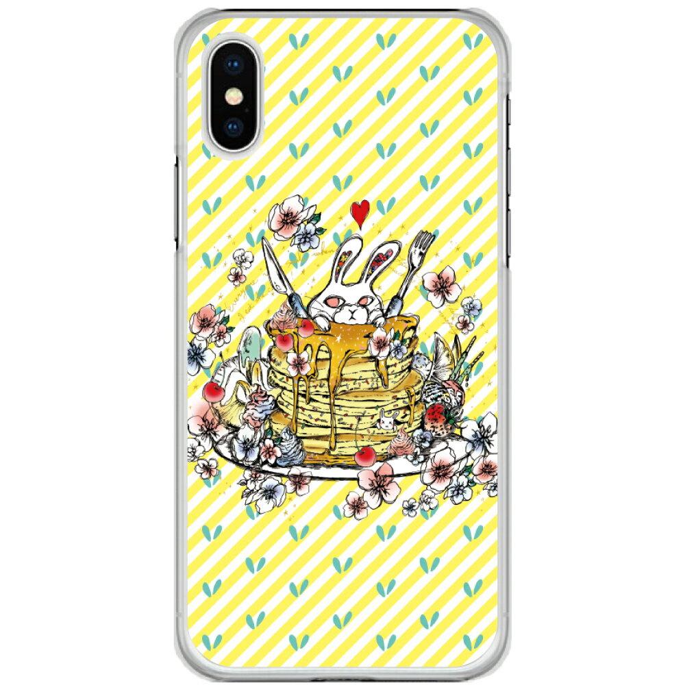 【200円OFFクーポン有】 iPhone11 スカラー スマホケース 全機種対応 iPhone 11 Pro Max XR XS iPhone8 iPod touch7 SO-01M SO-03L SH-02M SH-01M SO-02L SC-01M SH-04L SH-01L ScoLar カバー コワかわいい ウサギ パンケーキ イエロー かわいい