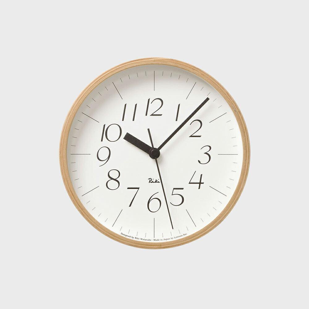 [渡辺力/リキワタナベ]Lemnos レムノス/riki clock(リキクロック)掛時計・壁掛け時計 細字S [渡辺力/リキワタナベのリキクロック]