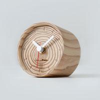 坂本龍一/moretreesモアトゥリーズ|年輪の置時計