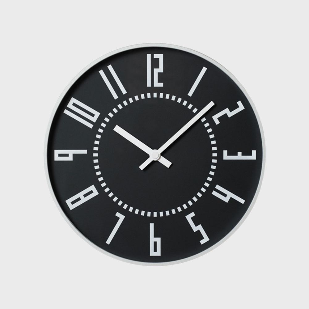 レムノス 掛け時計 札幌駅時計 eki clock エキクロック 黒 TIL16-01BK [ 五十嵐威暢 掛け時計 北欧 おしゃれ デザイナーズ ウォールクロック ]