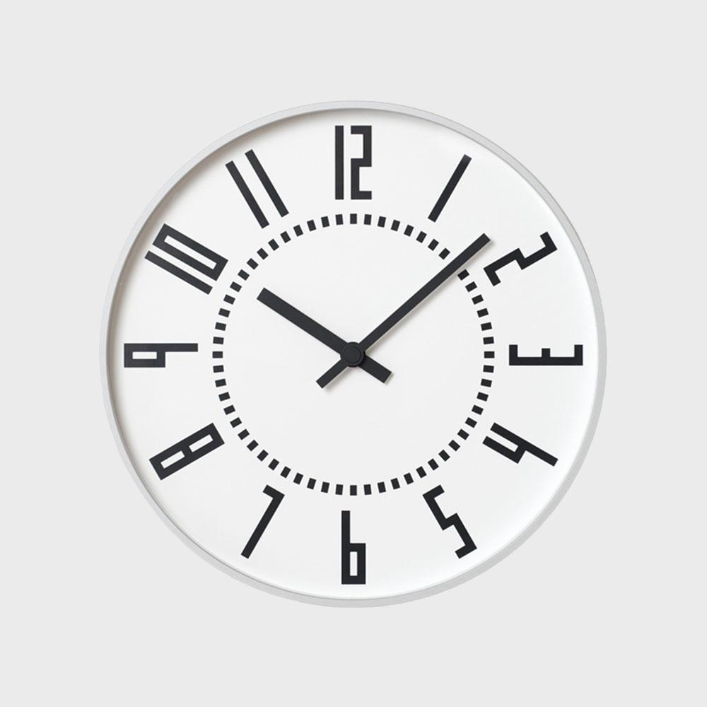 【クーポン有】五十嵐威暢 札幌駅時計 掛時計 eki clock エキクロック ホワイト [ デザイナーズ ウォールクロック:五十嵐威暢 ]