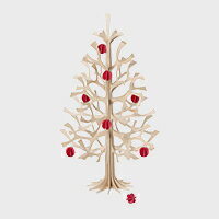 【クーポン有】lovi ロヴィ クリスマスツリーS ナチュラルウッド ミニボール レッド セット
