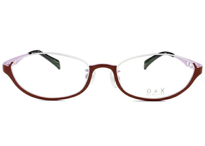 オーアンドエックス/ニューヨークO&X/NEW YORK アンダーリムot-8045j c.02 ボルドー/プラムアンダーリム メガネ 眼鏡 めがね 伊達 鼻パッド 新品 送料無料