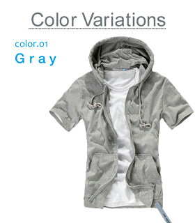 パーカー&Tシャツ2点セットセットアップメンズ薄手半袖無地トレーナージップアップアンサンブル青黒