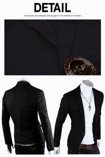 テーラードジャケットメンズ大きいサイズブレザーブルゾンアウタービジネスカジュアルフォーマル黒コーデ春夏秋メンズファッション