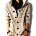 ロング丈 コーディガン ニット カーディガン メンズ カーデ 大きいサイズ セーター ロング コート ガウン ポケット お兄系 冬服