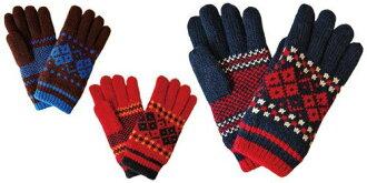 手套手套男士手包亞皆老街模式地球儀提花手包手冷袋冬季保暖手套手套手套袋編織手挽袋禮品袋手父親節