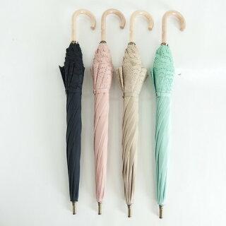 晴雨兼用傘レディース日傘雨傘中棒スライドショート傘綿サテンボーラー刺繍傘ファッション雑貨女性用コーデ日焼け対策