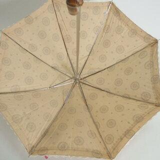 晴雨兼用傘レディース国産日本製日傘雨傘中棒スライドショート傘カラードコットン生地裾綿レース傘女性用コーデ日焼け対策