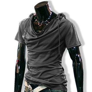 パーカー薄手ドレープTシャツメンズトップス無地半袖きれい目カジュアルコーデ春夏秋メンズファッション