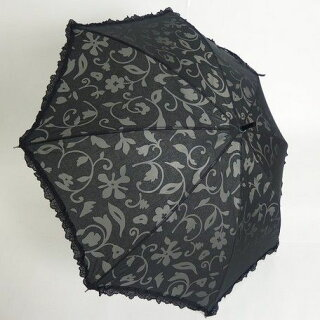 傘レディース日本製晴雨兼用スライドショート傘TCオパールフリルファッション雑貨女性用コーデ雨具雨