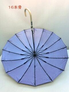 傘レディース晴雨兼用長傘婦人16本骨8駒パネル風プリント綿プチレース付手開き晴雨兼用傘ファッション雑貨女性用コーデ雨具雨