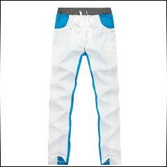 期間限定 スウェットパンツ メンズ ボトムス カラー切り替え ドロスト仕様 スポ…