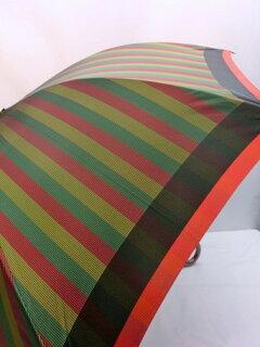 傘レディース雨傘長傘婦人甲州産先染め朱子格子軽量金骨ジャンプ雨傘ファッション雑貨女性用コーデ雨具雨
