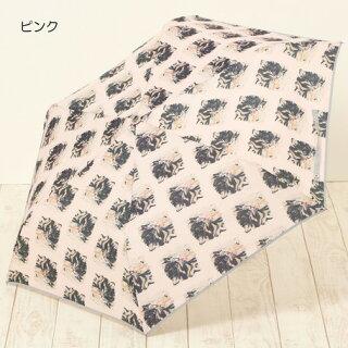 折り畳み傘レディース傘FLAPPERもふねこPRINT折傘ファッション雑貨小物折りたたみ傘女性用