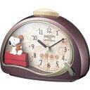 期間限定 目覚まし時計 メンズ レディース 時計 リズム時計製 スヌーピー 4SE506MJ09 ※fu