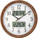 期間限定 掛け時計 メンズ レディース 時計 リズム 電波掛時計 ピュアカレンダー M617SR 4FY617SR23 ※fu