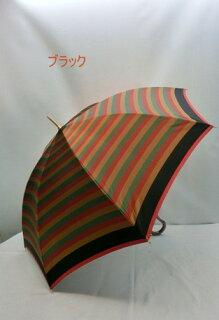傘レディース日本製雨傘長傘婦人甲州産先染め朱子格子軽量金骨ジャンプファッション雑貨女性用コーデ雨具雨