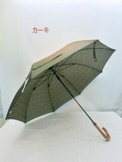 傘メンズ雨傘長傘紳士甲州産先染め両面生地グラスファイバー骨ジャンプ傘ファッション雑貨雨具雨男性用