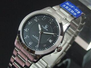腕時計メンズ小物Luganoルガノユニセックスメタルウォッチ日本製ムーブメントカレンダー表示5気圧防水メンズ腕時計