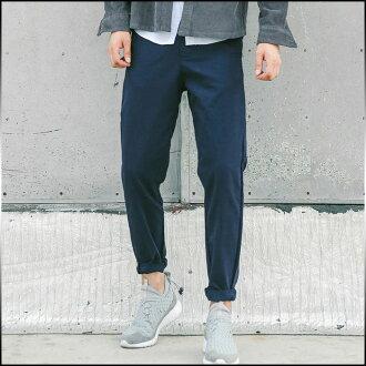 選擇大小和顏色的兩個集的底部男裝褲子長直固體缺口千野忠男褲款式簡單清潔眼睛男士休閒長褲