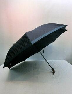 折り畳み傘メンズ傘雨傘折畳傘紳士甲州産先染め朱子格子市松柄2段式日本製国産ファッション雑貨小物折りたたみ傘男性用