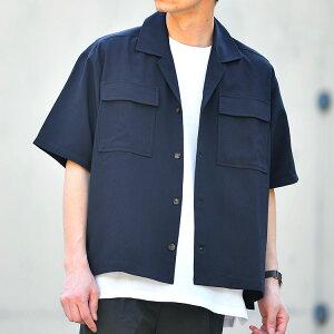 シャツ メンズ 【2点セット】半袖CPOシャツ&ワッフルTシャツ トップス 半袖 SET/ts1484/ネイビーS〜XL