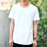 Tシャツ メンズ 接触冷感×Nanotec半袖ロング丈Tシャツ カットソー 涼しい 夏物 無地/tt1451/2カラーS〜XXL