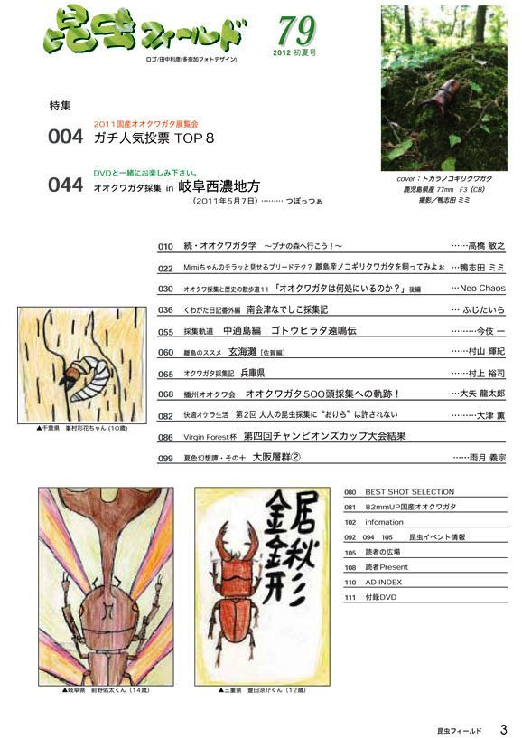 ☆販売中☆ 昆虫フィールド 79号(DVD付・夏号) 送料込み!!