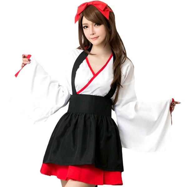 コスプレ着物花魁和服和装コスプレ衣装浴衣巫女着物ドレスハロウィンコスチューム衣装こすぷれコスセクシー女性
