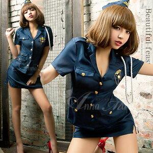 コスプレ ポリス ハロウィン コスチューム 衣装 ミニスカポリス 警官 婦警 ポリス ハロウィーン...
