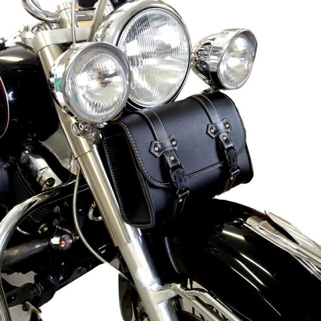 バイク ツールバック ワンタッチ型 角型 ブラック ツールバッグ ツーリングライダー フロントフォークなどに